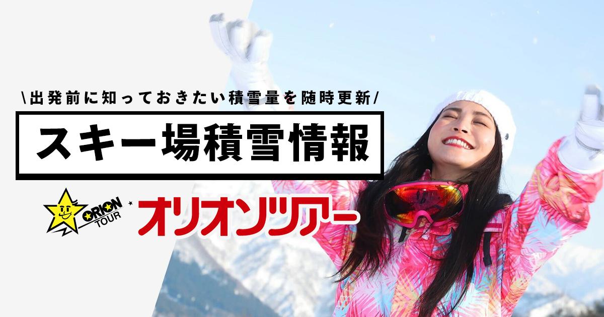スキー 場 積雪 状況